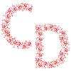 Vector clipart: ornamental alphabet. Letter CD