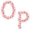 Vector clipart: ornamental alphabet. Letter OP