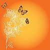 Vektor Cliparts: Hintergrund mit einem Fantasy-flower