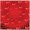 Vektor Cliparts: Valentines Ornament mit roten Liebe Herz