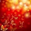 Vektor Cliparts: abstrakter bunten Hintergrund mit Schmetterlingen