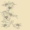 Vektor Cliparts: Ausschreibung Zweig blühende Orchideen auf einem hellen Hintergrund