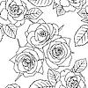 Vektor Cliparts: Nahtlose Tapete mit Rosenblüten