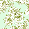 Vector clipart: Seamless pattern with rose flowers