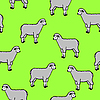 Vector clipart: seamless pattern with sheep and rams