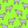 Vektor Cliparts: nahtloses Miuster mit Schafen und Widdern
