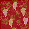 Vector clipart: Seamless Pattern with floral ornament with leaves and grapes