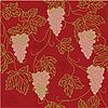 Vektor Cliparts: Seamless Pattern mit floralen Ornament mit Blättern und Trauben