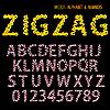 Vector clipart: ornamental alphabet zigzag