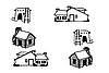 Vector clipart: Houses different -