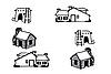 Vektor Cliparts: Häuser anders
