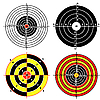 Vector clipart: Set of targets for practical pistol shooting