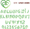 Vector clipart: herbal alphabet and numbers