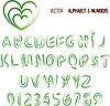 Vektor Cliparts: Kräuter Alphabet und Zahlen