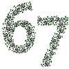 Vector clipart: ornamental alphabet. Digits 67