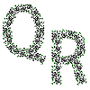 Vector clipart: ornamental alphabet. Letter QR