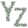 Vector clipart: ornamental alphabet. Letter YZ