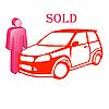 Vektor Cliparts: Das Auto ist verkauft