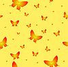Vector clipart: Abstract seamless pattern butterflies