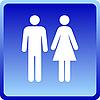 Мужчина и женщина - значок