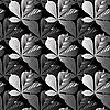 Vektor Cliparts: Nahtloses Muster von Blättern