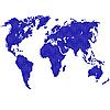 Vektor Cliparts: Detaillierte Karte der Welt