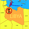 Vektor Cliparts: Stop-militärischen Operationen in Libyen.