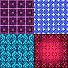 Vector clipart: collection of seamless patterns