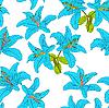 Vektor Cliparts: Nahtloser Hintergrund mit Blumen Lilie.
