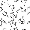 Vector clipart: Seamless pattern of military aircraft