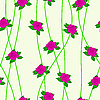 Vector clipart: Seamless background with flower roses.