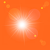 Vector clipart: sunrise in the orange sky