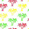 Vector clipart: Seamless palm tree pattern