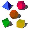Vektor Cliparts: farbenfrohes 3D-geometrischen Formen