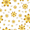 Vector clipart: floral pattern with set of different flowers.