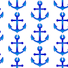 Vector clipart: seamless pattern with sea anchors