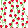 Vektor Cliparts: Nahtloser Hintergrund mit Blumen Rosen.