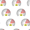 Vector clipart: seamless pattern speedometer