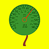 Vector clipart: car speedometer as the tree crown
