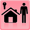 Vector clipart: person and house icon