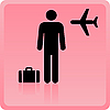 Icon of the person at the airport with luggage