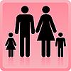 Vektor Cliparts: Mann und Frau mit Kindern- Icon