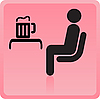 Vector clipart: Icon of the person in bar with beer