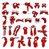 Vektor Cliparts: Reihe von verschiedenen Halstücher