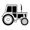 Vektor Cliparts: mit einem Traktor
