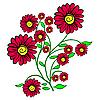 Vektor Cliparts: Blumen
