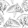 Vektor Cliparts: nahtlose Hintergrund, Black horse