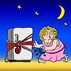 Vektor Cliparts: Kühlschrank mit Kette und Schloß - Diät symbol