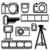 Vector clipart: set of digital cameras