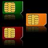 Vector clipart: Set SIM cards.